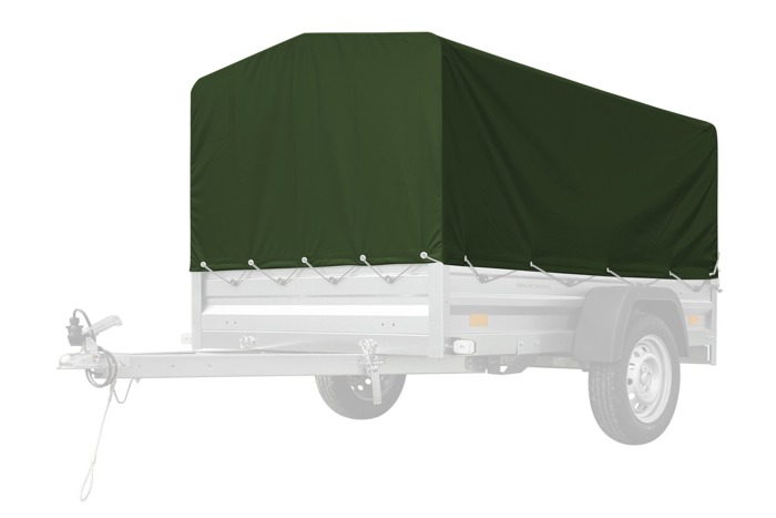 Trailer frame and tarp for Garden Trailer 205 - green tarpaulin set