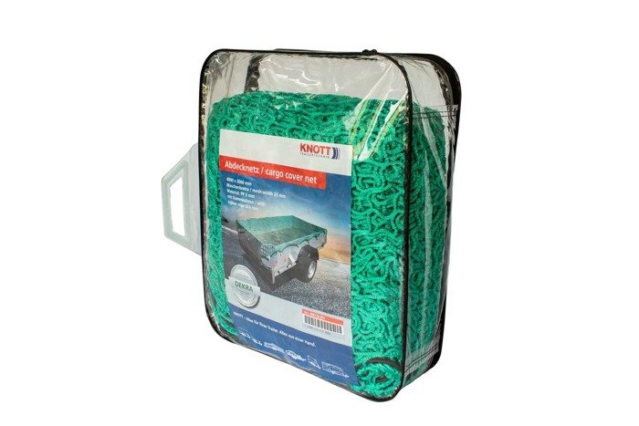 Trailer safety net by KNOTT with elastic cord - 3000x4000 mm