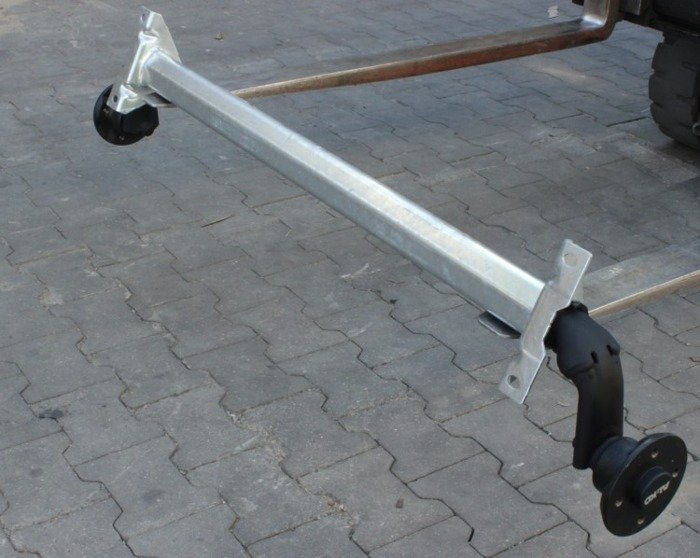Unbraked axle for trailers AL-KO optima 1130 mm 1443 mm 750 kg 100x4