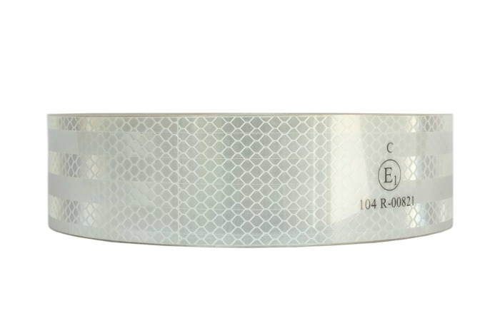 WHITE REFLECTIVE TAPE FOR TRUCKS AND TRAILERS - 1m