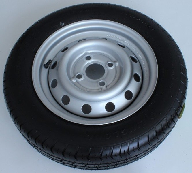 Wheel 155/70 R13 387kg 4x100 for trailers Linglong tyre Unitrailer