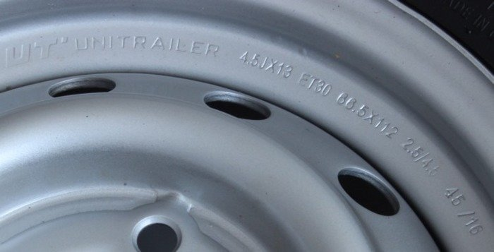 Wheel 165 R13C 710kg 5x112 + Linglong tyre for trailers - Unitrailer