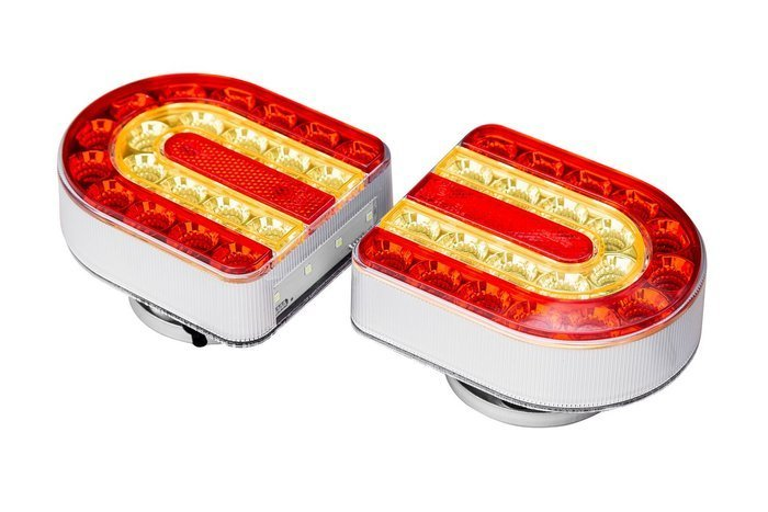 Wireless trailer light set with magnets 12V