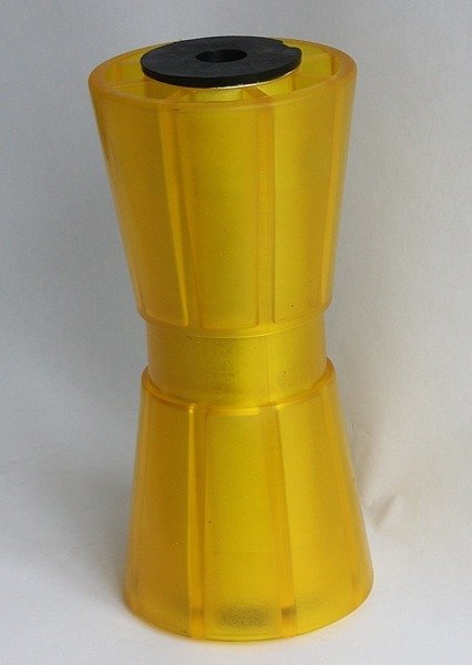 Yellow keel roller for boat trailers. Knott