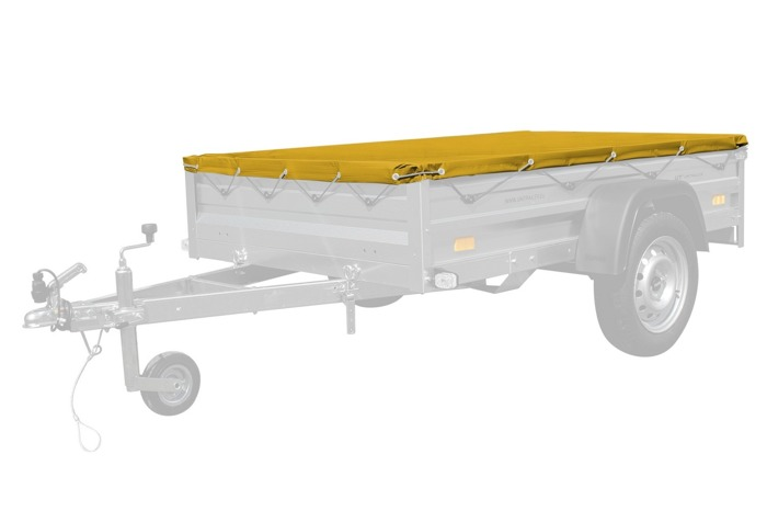 Yellow utility trailer tarp 200x125 for Garden Trailer 205